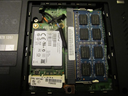 The SSD installed into the T420